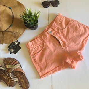 Urban outfitters BDG high rise salmon color shorts